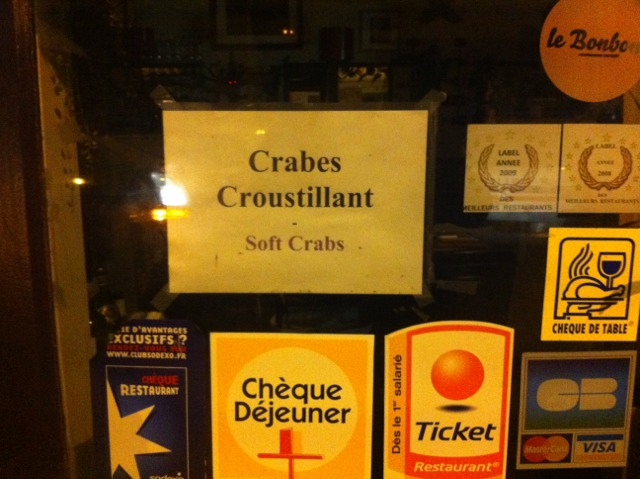 Restaurant Paris Crabe Croustillant