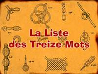 Sailor mouth  -  La liste des 13 mots